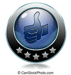 like button - like and follow us thumbs up icon or button