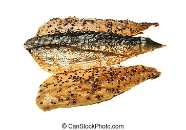Smoked mackerel - Smoked and peppered mackerel fillets...