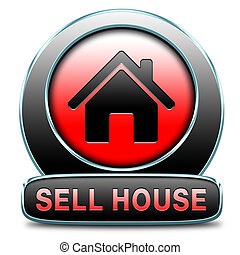 sell house - For sale sign, selling a house apartment or...