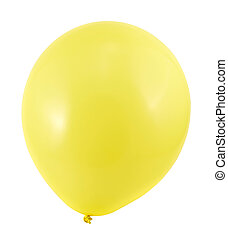 Fully inflated air balloon isolated - Fully inflated yellow...