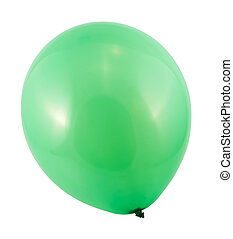 Fully inflated air balloon isolated - Fully inflated green...