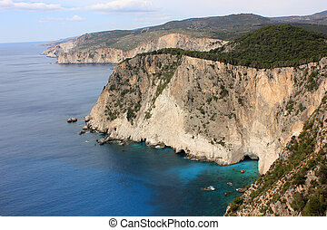 South Zakynthos, Ionian sea - Keri Cape, Zante island,...