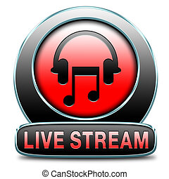 live stream music - music live stream radio music button...