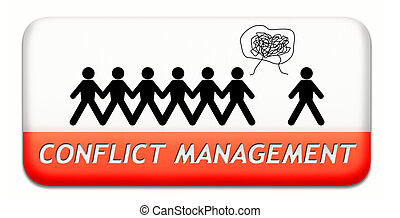 conflict management in business at work or between couple...