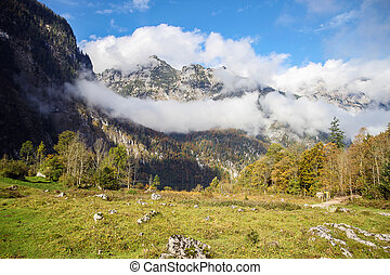 Bavarian Alps, Germany - Bavarian Alps near Konigssee lake...