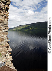 Loch Ness - View of the legendary Loch Ness from Urquhart...