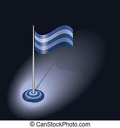 blue vector flag