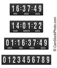 scoreboard countdown timer vector illustration isolated on...