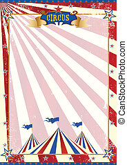 American circus grunge - A background with red sunbeams and...