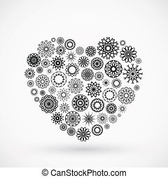 Ornamental Heart - Vector ornamental heart. Valentine's day...