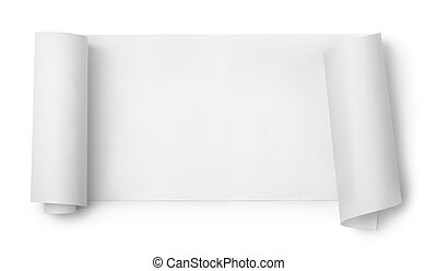 Paper scroll - Blank paper scroll isolated on white