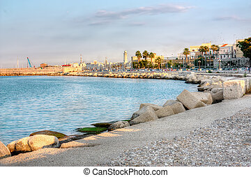 Embankment of Bari Italy hdr - Embankment of Bari Italy...