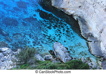 Skinari, Blue Caves, Zante island - North of Zakynthos...