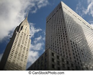 Chrysler Building with lovely blue sky ts lens used -...