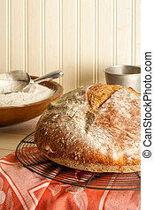 Round Rustic Artisan Bread
