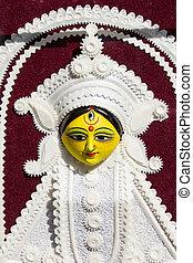 goddess durga statue in fair