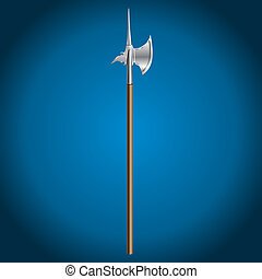 poleaxe, vector illustration