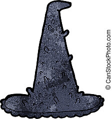 cartoon spooky witch hat