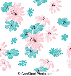 Flower seamless pattern for print