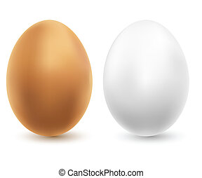 two chicken eggs - Illustration of two chicken eggs on a...