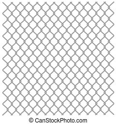 Metallic fence - Illustration of a metal mesh netting Vector...