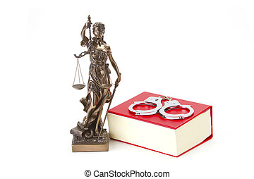 Justice Law and Justice with handcuffs - Justice with scales...