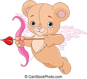 Valentine Cupid Bear - Valentine cupid bear ready to shoot...