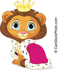 Lion King - A cute Cartoon Lion King
