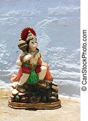 statu of lord hanuman - isolated statue of lord hanuman