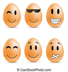 Egg smileys