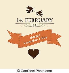 holiday frame happy valentines day. Design card. Vector....