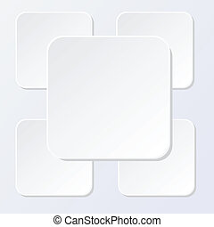 Abstract white paper squares vector illustration