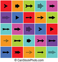 Arrow sign icon vector set - Arrow sign icon set. Saved as...