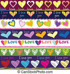 Lovely background with hearts