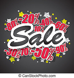 Hard Discount Sale - Creative Abstract Hard Discount Sale...