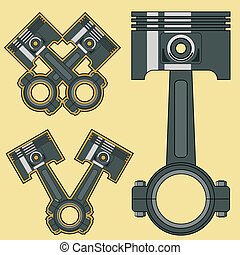 piston - Car engine piston Vector illustration clip art