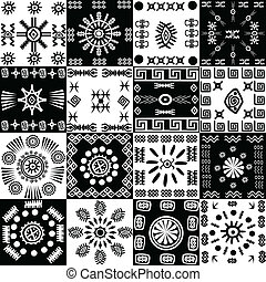 Tribal background, set of ethnic elements