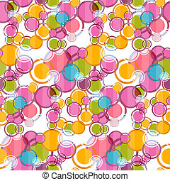 Abstract Retro Vector Circles Seamless Background