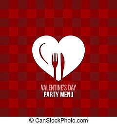 valentines day menu food drink design background
