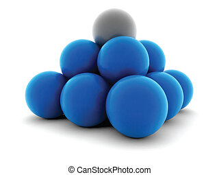 Balls - Vector illustration of glossy blue balls.