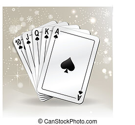 playing cards - series of cards. eps 10 vector.