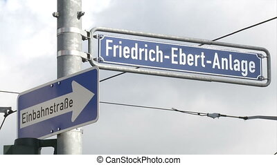 Street sign in Frankfurt, Germany