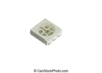 luminodiode isolated on the white background