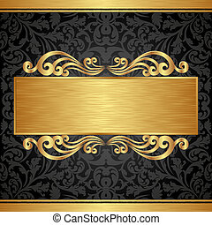 background - gold and black background with ornaments