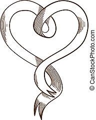 Heart ribbon.