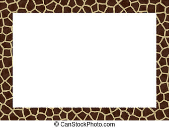 animal fur abstract foto frame with white back