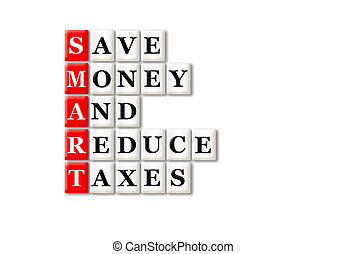 smart taxes - acronym of Smart and other relevant words on...