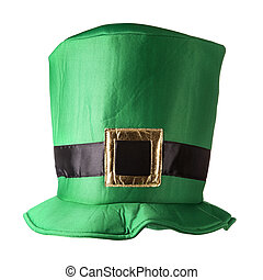 St. Patrick's Day hat - Green St. Patrick's Day hat isolated...