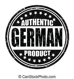 Authentic german product stamp
