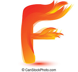 Fire F letter image design vector